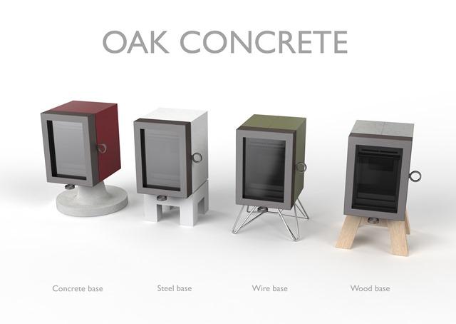 Houtkachel Wanderes OAK concrete